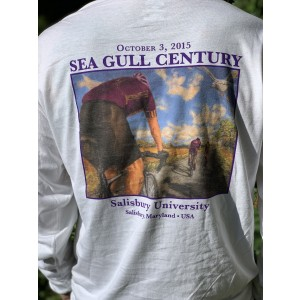 2015 SGC Long Sleeve White T-Shirt, Back Close-Up