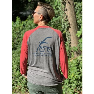 2018 SGC Logo Baseball Shirt Back View (Red/Grey)