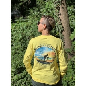 Vintage 2014 SGC Long Sleeve Yellow T-Shirt, Back View