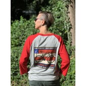 2016 SGC Vintage-Styled Graphic Baseball T-shirt Red, Back View